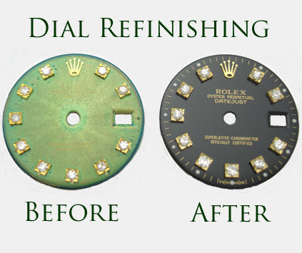 Renew the appearance of faded, discolored Rolex watch dial