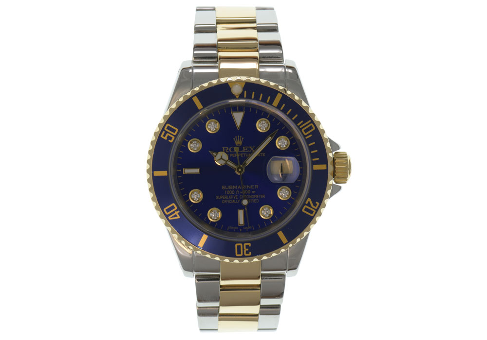 Diamond dial for Submariner date watch